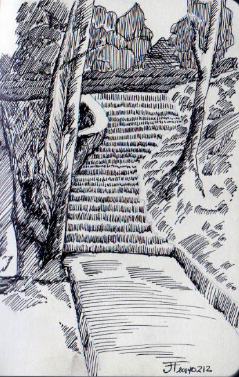 20140212_StairsCrossHatching