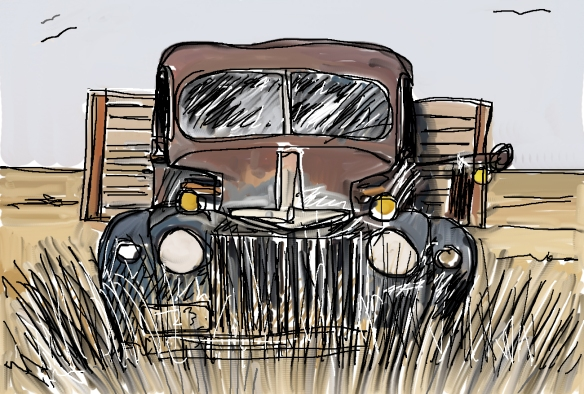 20160918_digitaldrawing_oldtruck