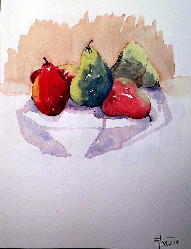 20161009-jane-blundelle-pears-janeh-hannah-watercolour