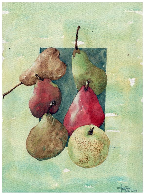 20161010-6-pears-watercolour-jane-hannah