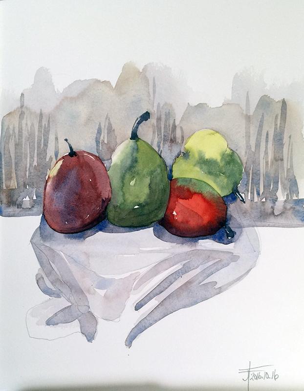 20161016-4-pears-still-life-watercolour-jane-hannah