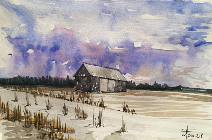 20161218-st-clet-barn-watercolour-jane-hannah